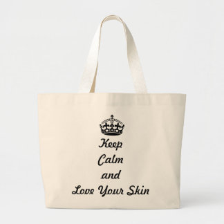 "Skincare Lovers ""Keep Calm and Love Your Skin"" Large Tote Bag"