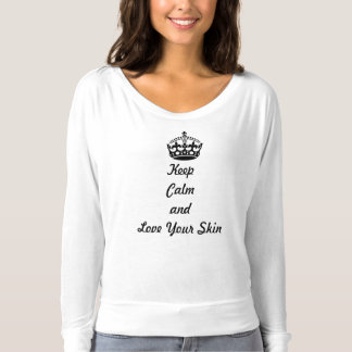 "Skincare Lovers ""Keep Calm and Love Your Skin"" T-shirt"
