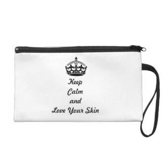 """Skincare Lovers """"Keep Calm and Love Your Skin"""" Wristlet Purse"""