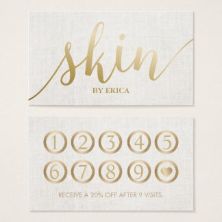 Skincare Salon Spa Esthetician Elegant Loyalty Business Card