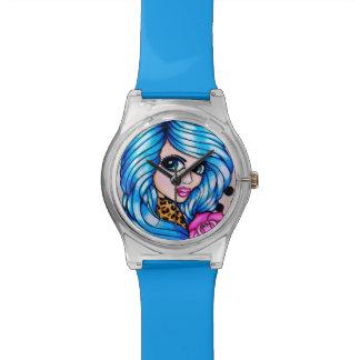 "Skinderella's ""Blue Beauty"" wristwatch"