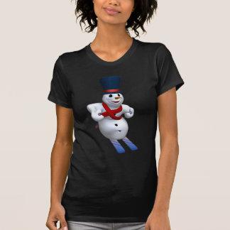Sking Snowman Tee Shirt