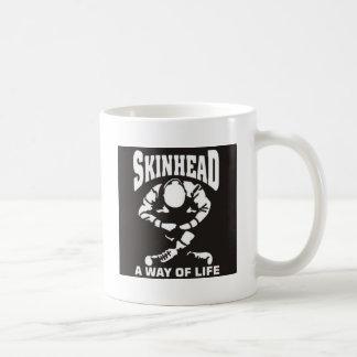 SKINHEAD A WAY OF LIFE CLASSIC WHITE COFFEE MUG