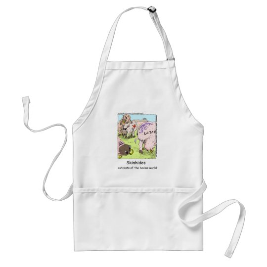 SkinHides Cow Outcasts Funny Tees Mugs Etc Adult Apron