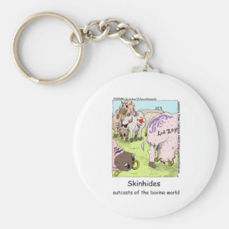 SkinHides Cow Outcasts Funny Tees Mugs Etc Basic Round Button Keychain