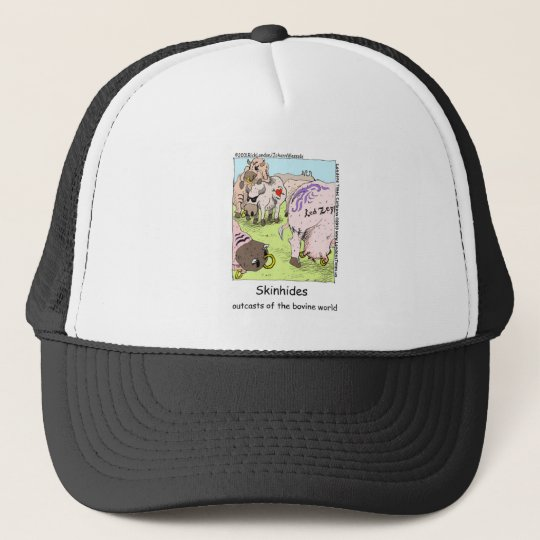 SkinHides Cow Outcasts Funny Tees Mugs Etc Trucker Hat