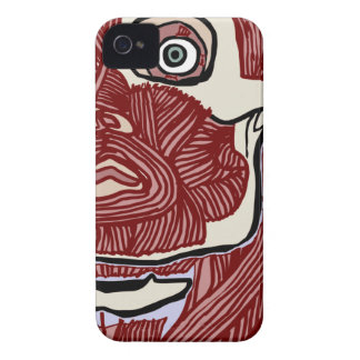 Skinned Head version two iPhone 4 Case-Mate Case