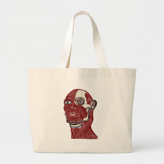 Skinned Head version two Large Tote Bag
