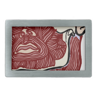 Skinned Head version two Rectangular Belt Buckle