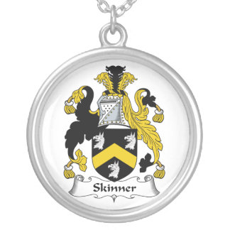 Skinner Family Crest Round Pendant Necklace