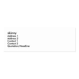 skinny, Address 1, Address 2, Contact 1, Contac... Business Card Template