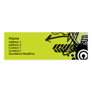 skinny b-card-urban Double-Sided mini business cards (Pack of 20)