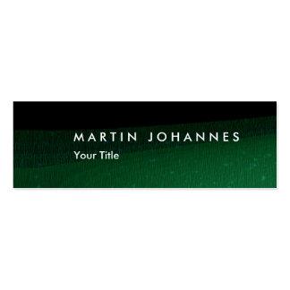 Skinny black green professional business card