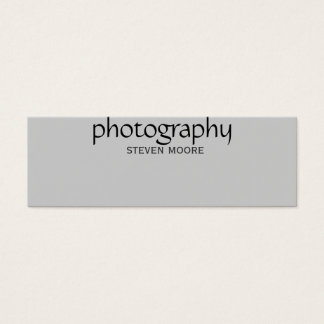 Skinny Black Grey Photography Business Card