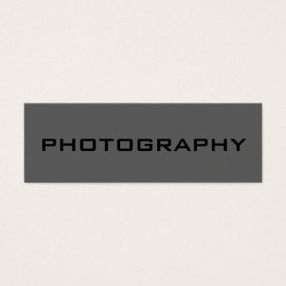 Skinny Black Out Grey Photography Business Card
