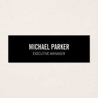 Skinny Black White Bold Text Stylish Professional Mini Business Card