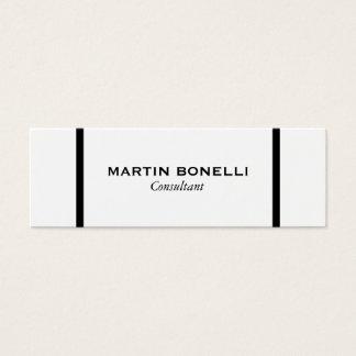Skinny Black White Border Standard Business Card
