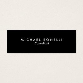 Skinny Black White Minimalist Business Card