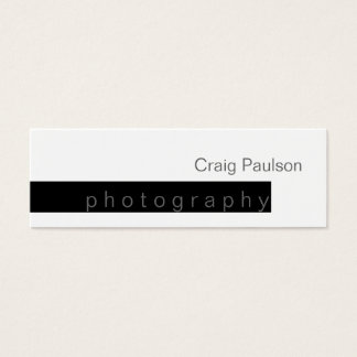 Skinny Black White Trend Photography Business Card