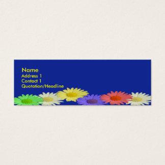 Skinny Blue Daisy Mini Business Card