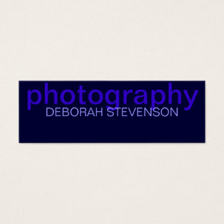 Skinny Blue Plain Photography Business Card