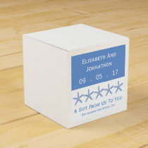 Skinny Blue Sea Star Wedding Favor Box