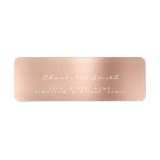 Skinny Blush Pink Rose White Return Address Labels