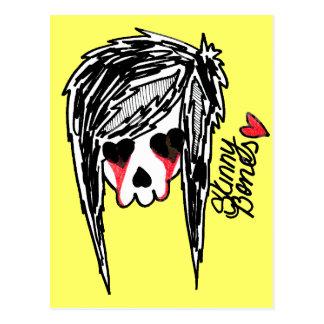 Skinny Bones Girl Skeleton Logo Postcard