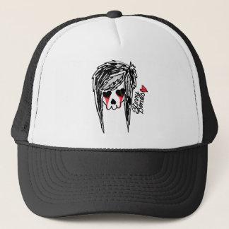 Skinny Bones Girl Skeleton Logo Trucker Hat