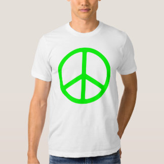 Skinny Bright Green Peace Sign Shirt