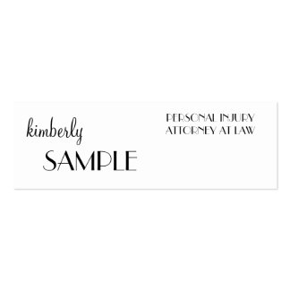 Skinny Business Card Templates
