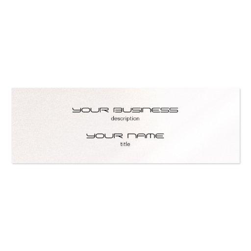 Skinny Business Card Luxury Excutive Pearl
