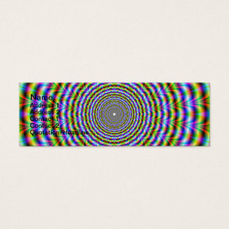 Skinny Business Card   Psychedelic Neon Ripples