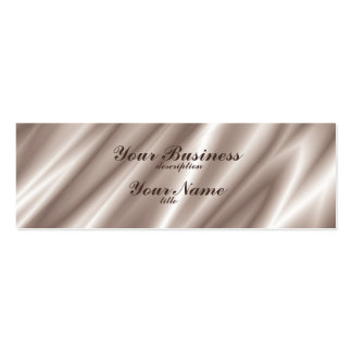 Skinny Business Card Std Paper Silk Champagne