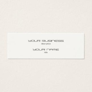 Skinny Business Card Template Standard Paper Cream