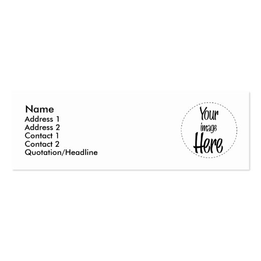 Skinny Card - Customized Double-Sided Mini Business Cards (Pack Of 20)