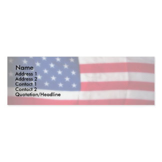 Skinny Card Patriotic Business Card Template