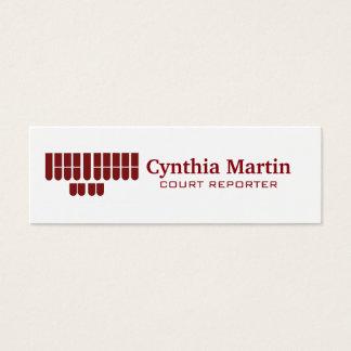 Skinny custom court reporter business cards