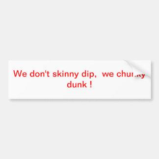 Skinny dip car bumper sticker