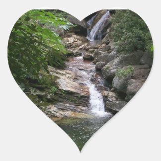 Skinny Dip Falls Waterfall Photo Heart Sticker