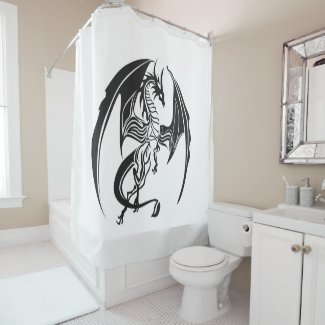 Skinny dragons... shower curtain
