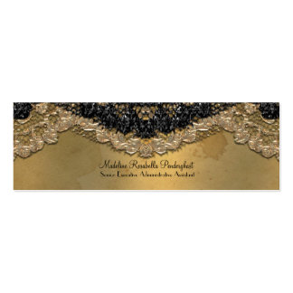 """Skinny Elegant Segonzac Victorian 3.5"""" x 2"""" Double-Sided Mini Business Cards (Pack Of 20)"""