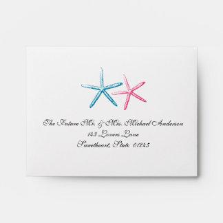 Skinny Finger Starfish RSVP Envelope