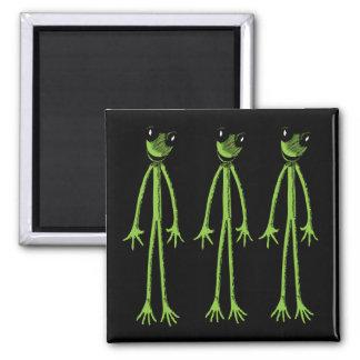 Skinny Frog 2 Inch Square Magnet