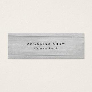 Skinny Gray Wood Classical Professional Creative Mini Business Card