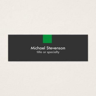 Skinny Grey Green Stripe Standard Business Card