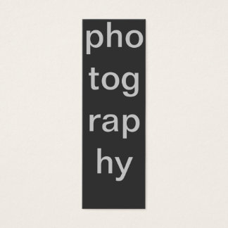 Skinny Grey Photography Business Card
