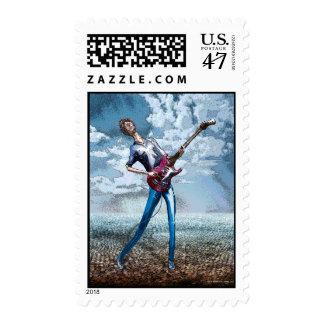 Skinny Guitar stamp