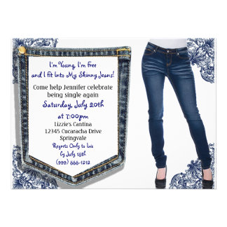 Skinny Jeans Divorce Breakup Party Invitations