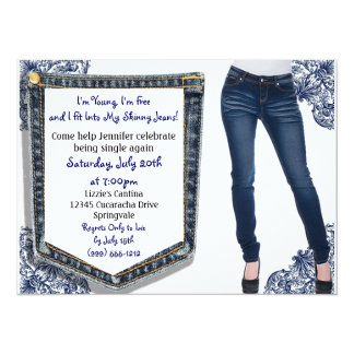 Skinny Jeans Divorce / Breakup Party Invitations